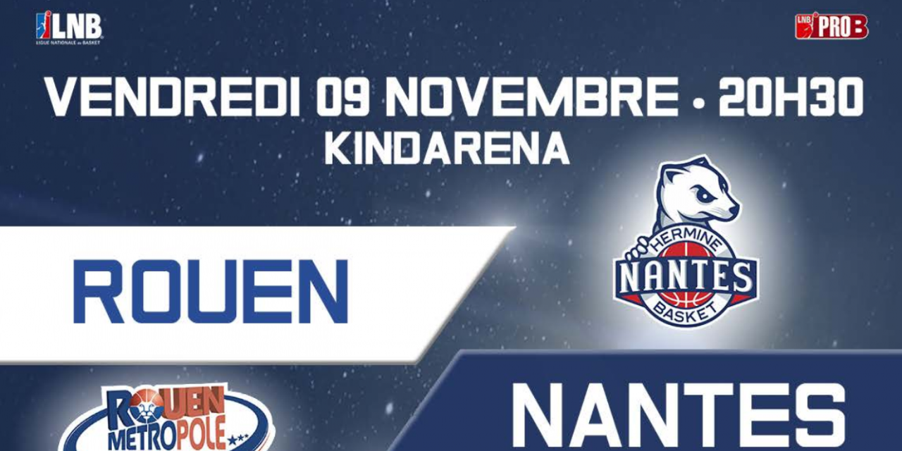 Match Rouen Métropole Basket / Nancy 🗓